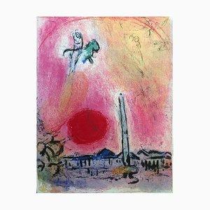 Lithographie de Marc Chagall - La Place de la Concorde 1962