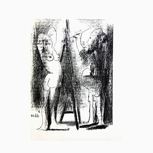 Lithographie Pablo Picasso - Painter and His Model - Original 1964