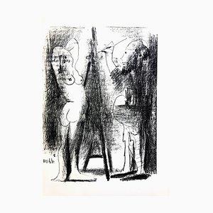 Litografia originale del 1964 di Pablo Picasso - Painter and His Model