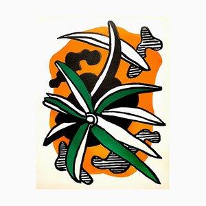 Litografía Fernand Léger - Flowers - Original 1951