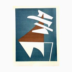 Litografía original compuesta por Alberto Magnelli - Composition - 1951