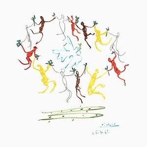 Nach Pablo Picasso - Die Runde der Freundschaft - 1961 Lithographie