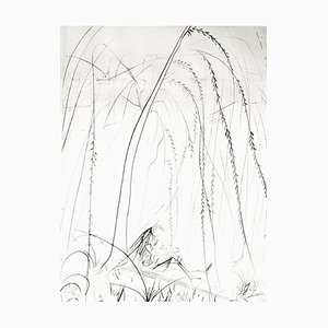 Salvador Dali - Weeping Willow - Original Etching on Silk 1968