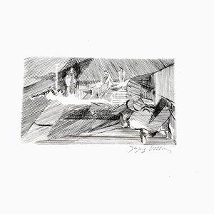 Jacques Villon - Landscape - Original Radierung 1949