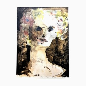 Lithographie Leonor Fini - Flower Crown - Lithographie Originale 1964