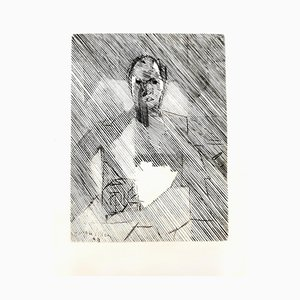 Jacques Villon - Cubist Man - Original Etching 1949
