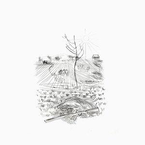 Acquaforte originale 1940 di Raoul Dufy - Champs Français