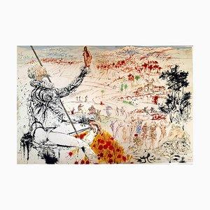 Litografía original Salvador Dali - Don Quichotte 1957