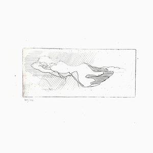 Gravure à l'Eau-Forte Jacques Et Nicon Original 1947