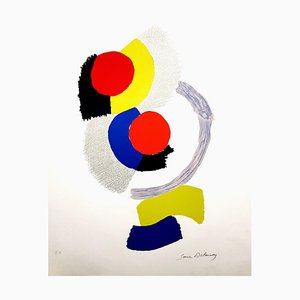 Lithographie Sonia Delaunay - Composition - Original Lithographie C.1960