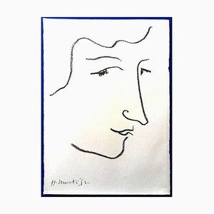 Litografia originale - Henri Matisse - Colette 1951