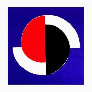Sonia Delaunay - Composition - Signierte Originale Lithographie C.1960