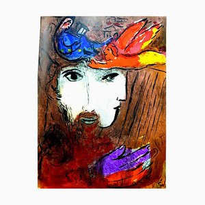 Marc Chagall - Double Portrait - Original Lithograph 1956