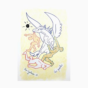Jean Cocteau - Poets - Litografia originale