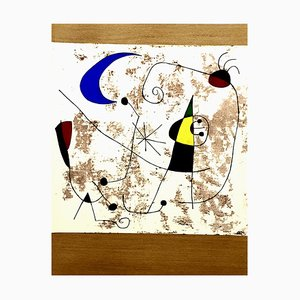 Joan Miro - Moon and Sun - Pochoir 1957