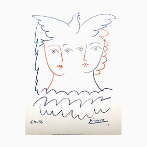 After Pablo Picasso - Women and Dove - Lithograph 1956