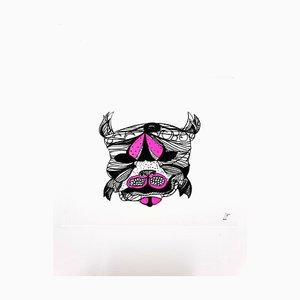 Leonor Fini - Purple Surrealist Cat - Original Radierung 1985