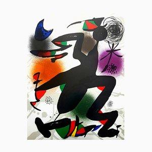 Litografía original con Joan Miro - Abstract 1976