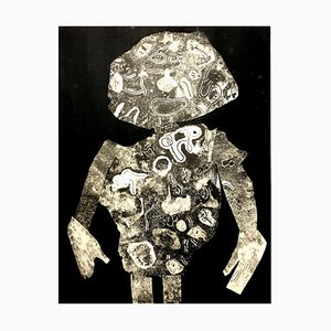 d'après Jean Dubuffet - Man - Pochoir 1956