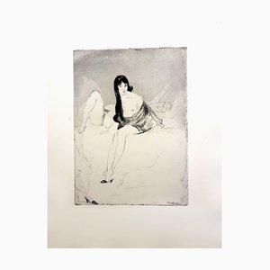 Acquaforte Jean Gabriel Domergue - Donna - Original 1924
