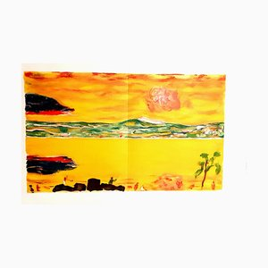 Litografia originale 1940 di Pierre Bonnard - Sunset on the Mediterranean