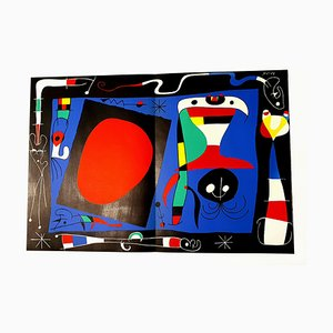 Joan Miro - Woman with Mirror - Original Lithograph 1956