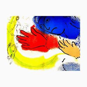 Litografia originale Marc Chagall - Horsewoman. 1976