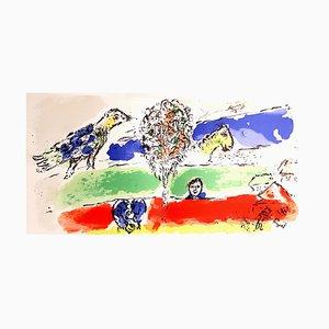 Litografia originale firmata Marc Chagall - Green River 1974
