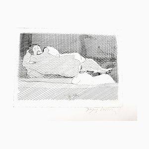 Jacques Villon - Schlafender Akt - Original Radierung Um 1950