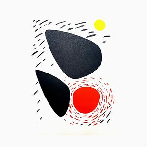 Lithographie Alexander Calder - Rocks and Sun 1952
