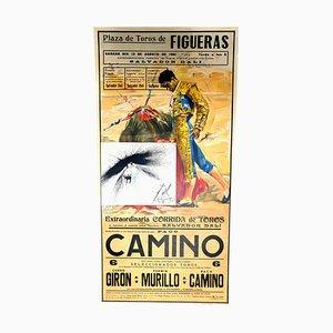 Poster Salvador Dali - Corrida - Vintage avec Gravure 1961