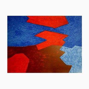 Litografia originale Serge Poliakoff - Abstract Beach 1968