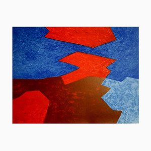 Poliamida Serge Poliakoff - Abstract Beach - Litografía original 1968