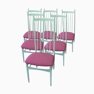 Weiße Esszimmerstühle von E.M. Dettinger für Lucas Schnaidt, 6er Set, 1969