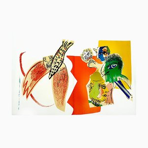 Litografía original Marc Chagall - 1966