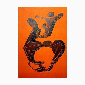 Lithographie Marino Marini - Rider - Original 1955