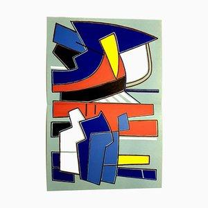 Lithographie Alberto Magnelli - Composition - Lithographie Originale 1967