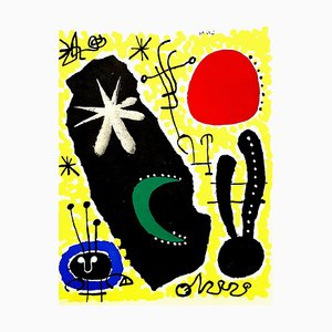 Joan Miro (after) - Mars - Pochoir 1956