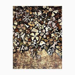 after Jean Dubuffet - Flowers - Pochoir 1957