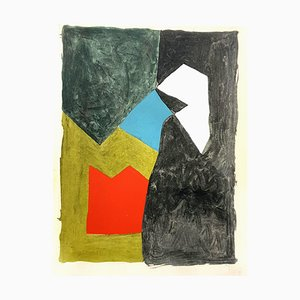 Serge Poliakoff (after) - Composition - Pochoir 1956