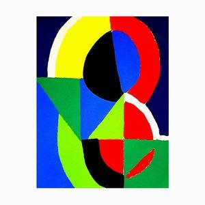 (después) Sonia Delaunay - Composition - Pochoir 1956