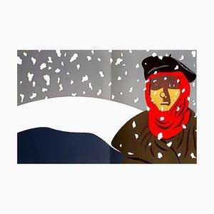 Eduardo Arroyo - Widerstand im Schnee - Original Lithografie 1984