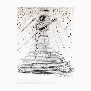 Salvador Dali - Violon - Gravure à l'Eau-Forte sur Soie 1968