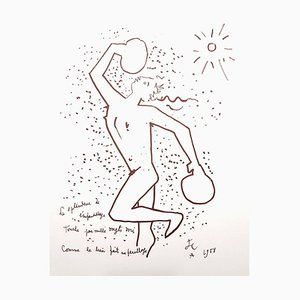 Jean Cocteau - The Boxer - Original Lithograph 1958