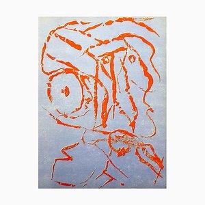 Pierre Alechinsky - Composition - Original Lithographie 1960