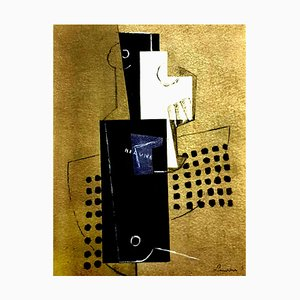 after Georges Braque - Cubism - Pochoir 1956