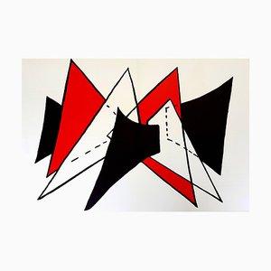 Lithographie Originale de '' Derrière le miroir '' Alexander Calder - 1976