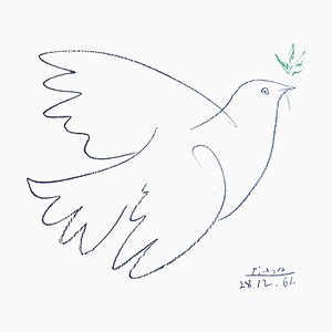 After Pablo Picasso - Peace Dove - Lithograph 1961