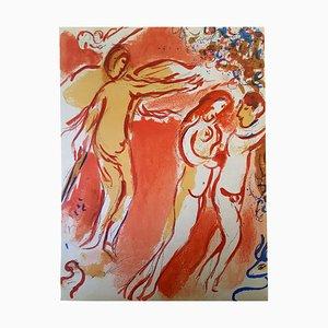 Litografia originale firmata Chagall - The Bible - Paradise - Paradise