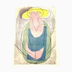 Pablo Picasso (nachher) - Porträt einer Dame - Lithografie 1946